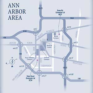 Ann Arbor Overview map