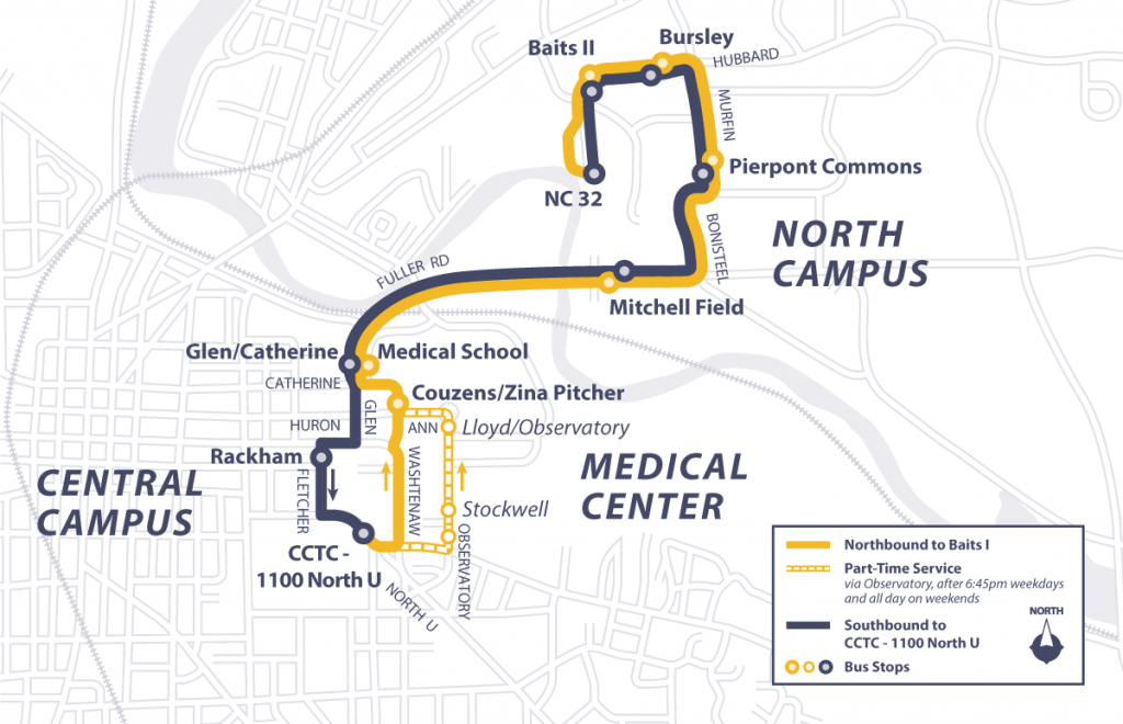 Bursley-Baits Route Map