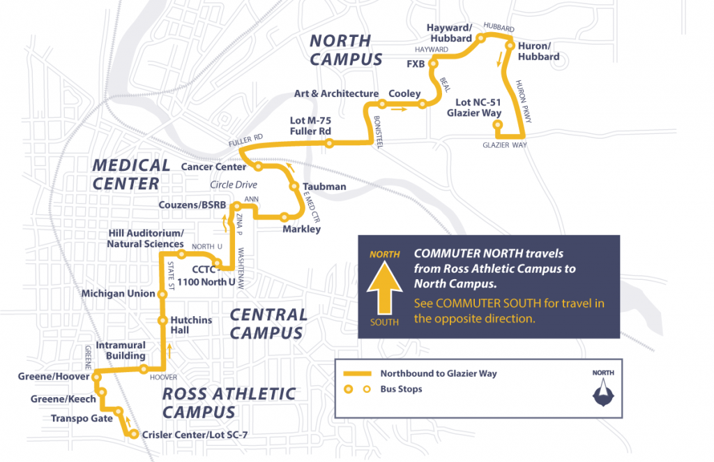 Commuter North Route Map