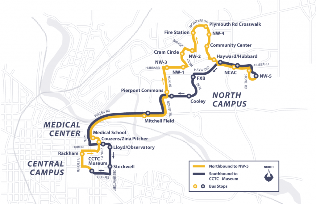 Northwood Route Map